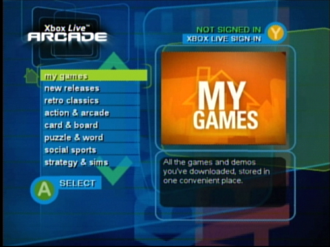 Xbox Live Arcade Screenshot